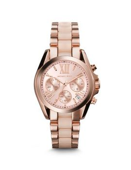 mini-bradshaw-acetate-and-rose-gold-tone-watch by michael-kors