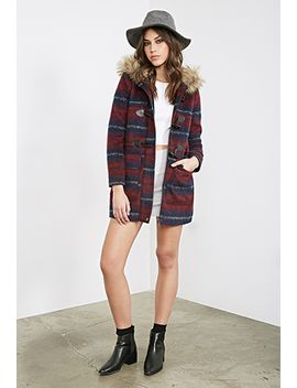 wool-blend-plaid-parka by forever-21