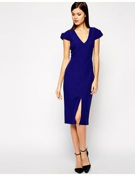 asos-structured-dress-with-v-neck by asos-collection