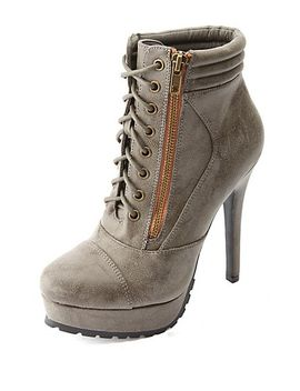 lug-soled-zip-up-high-heeled-combat-booties by charlotte-russe