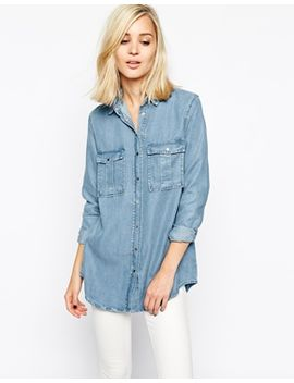 river-island-faded-denim-shirt by river-island