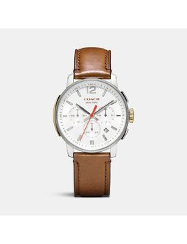 bleeckerstainless-steel-chrono-strap-watch by coach