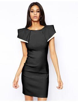 vesper-sexy-pencil-dress-with-origami-sleeve by vesper