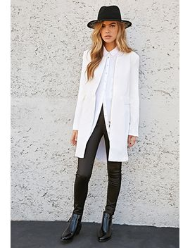 collarless-textured-knit-coat by forever-21
