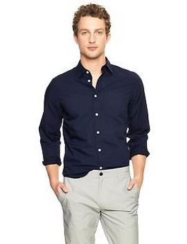 lived-in-wash-solid-shirt by gap