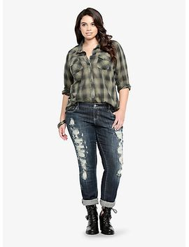 studded-collar-plaid-shirt by torrid