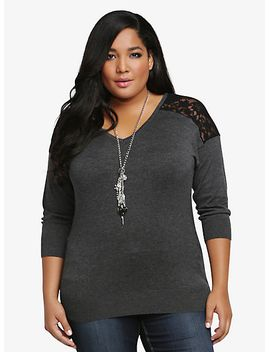 lace-illusion-dolman-sweater by torrid