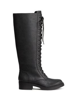lace-up-boots by h&m
