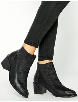 asos-ren-leather-mix-ankle-boots by asos-collection