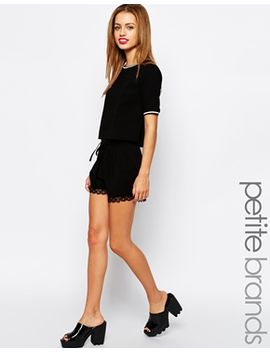 new-look-petite-lace-trim-short by new-look-petite
