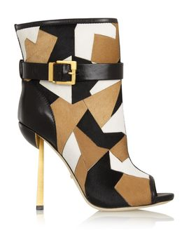 medea-patchwork-calf-hair-ankle-boots by sergio-rossi