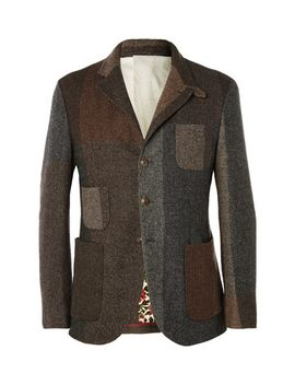 unstructured-wool-blend-tweed-blazer by incotex