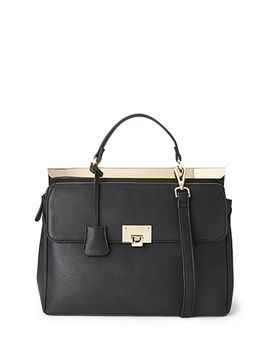convertible-faux-leather-satchel by forever-21