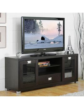 baxton-studio-matlock-modern-glass-door-dark-brown-tv-stand by baxton-studio
