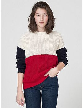 unisex-color-block-fishermans-pullover by american-apparel