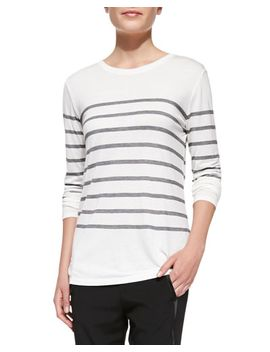 jersey-striped-long-sleeve-top by vince
