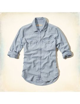 surfers-knoll-denim-shirt by hollister