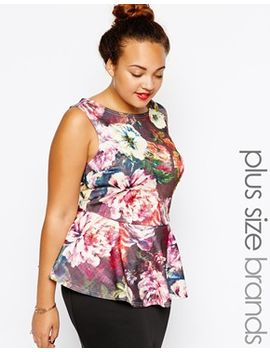 new-look-curve-rose-print-scuba-peplum-top by new-look-inspire