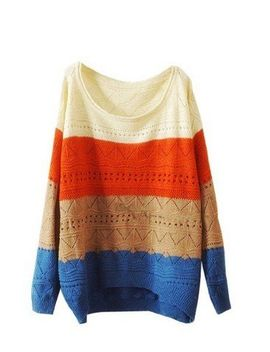ninimour--fashion-women-colorway-cut-knitwear-sweater-(beige) by lookbookstore