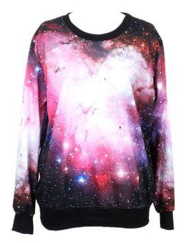 pandolah-neon-galaxy-cosmic-colorful-patterns-print-sweatshirt-sweaters by pandolah