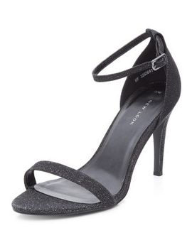 black-sparkle-ankle-strap-heels by new-look