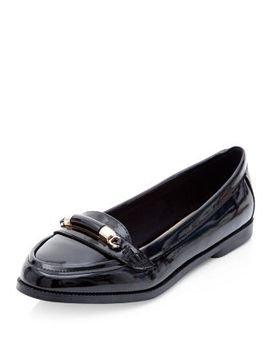 black-patent-metal-bar-loafers by new-look