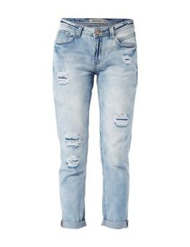 blue-bleached-patchwork-boyfriend-jeans by new-look