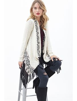 contemporary-southwestern-patterned-tassel-cardigan by forever-21