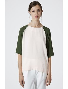 colorblock-crepe-tunic by topshop