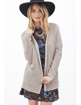 open-front-knit-cardigan by forever-21