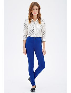 stretch-knit-skinny-pants by forever-21