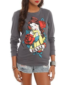 disney-beauty-and-the-beast-belle-tattoo-girls-pullover-top by hot-topic