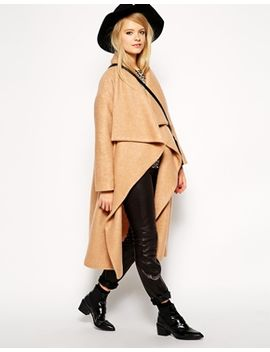 asos-oversized-coat-with-waterfall-drape by asos-collection
