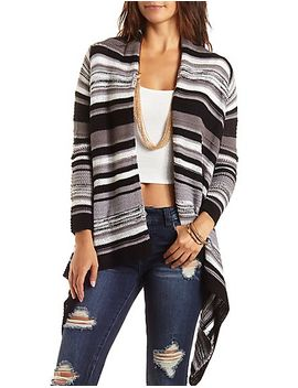 striped-blanket-cardigan-sweater by charlotte-russe