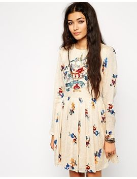asos-premium-skater-dress-in-jacquard-with-embroidery by asos-collection