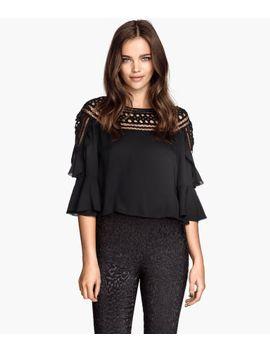 wide-cut-lace-blouse by h&m