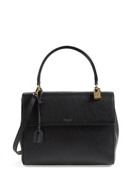 large-moujik-leather-satchel by saint-laurent