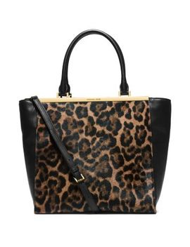 lana-leopard-print-hair-calf-and-leather-tote by michael-kors