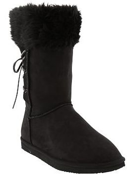 womens-faux-shearling-boots by old-navy