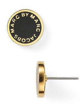 marc-by-marc-jacobs-enamel-logo-disc-stud-earrings by marc-by-marc-jacobs