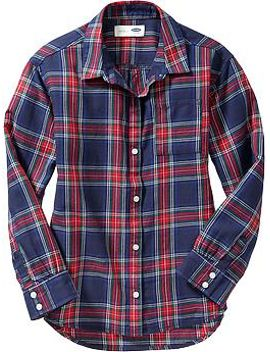 girls-plaid-button-front-shirts by old-navy