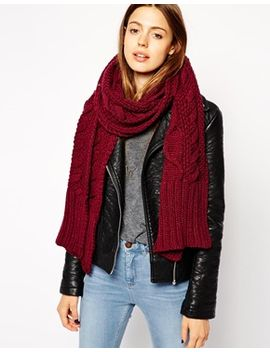 asos-cable-scarf by asos-collection