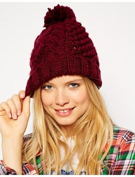 asos-beanie-with-cable-pom by asos-collection