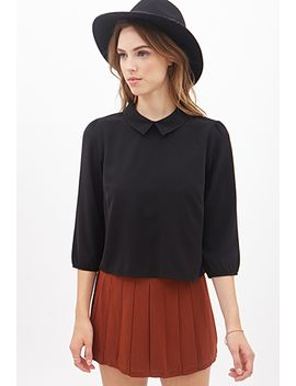 boxy-split-collar-shirt by forever-21