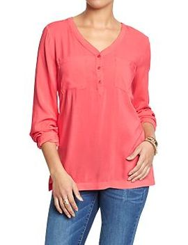 womens-matte-crepe-pullovers by old-navy