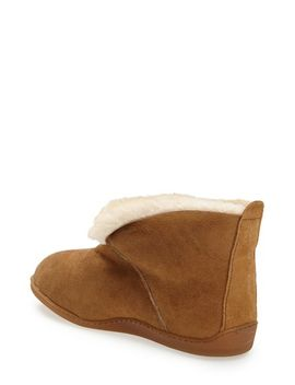 sheepskin-ankle-boot-slipper by minnetonka
