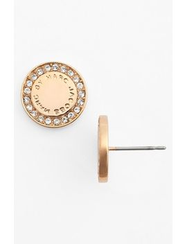 pavé-disc-stud-earrings by marc-by-marc-jacobs