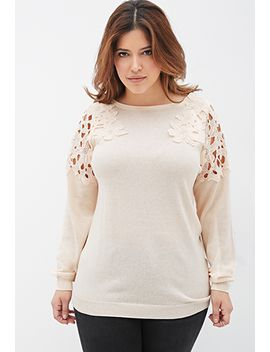 floral-crochet-cutout-sweater by forever-21