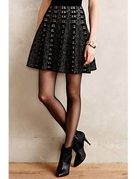 jacquard-knit-skater-skirt by moth