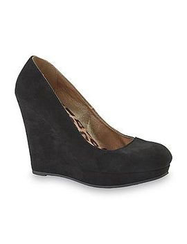 qupid-womens-maven-black-sueded-platform-wedge-shoe by kmart